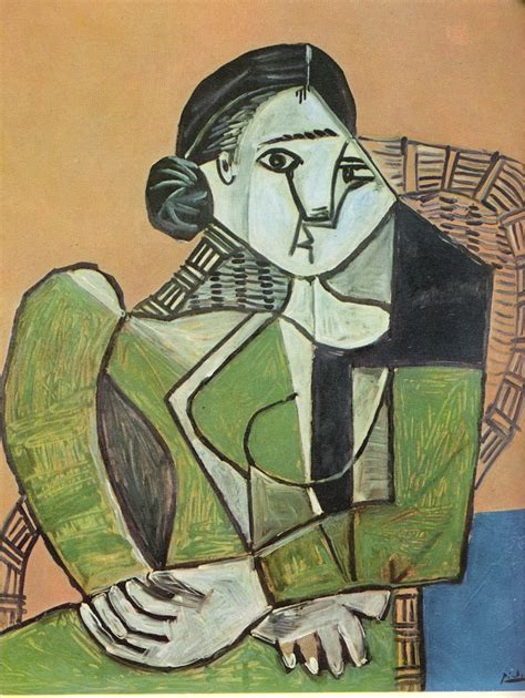 woman in an armchair woman sitting in an armchair pablo picasso wikiart org