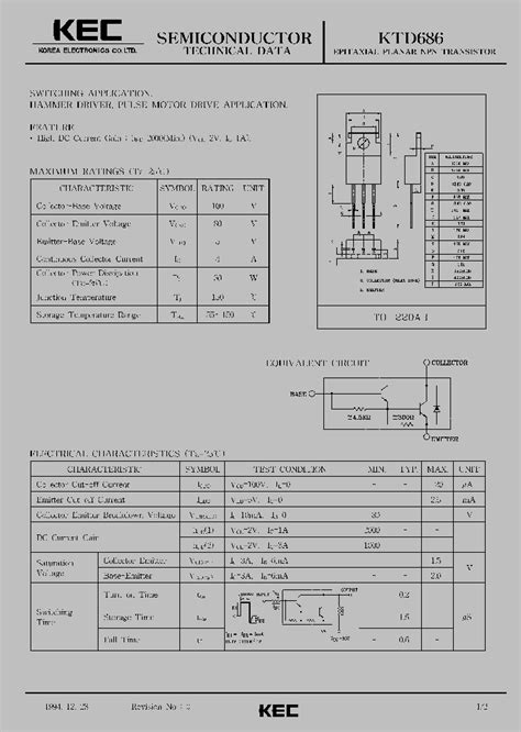 npn transistor motor driver ktd686 309572 pdf datasheet ic on line
