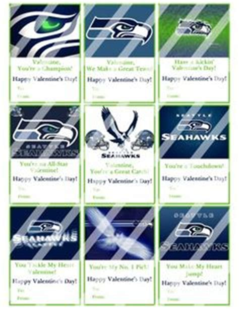 seattle valentines day seattle seahawks valentines personalized by punkyprep