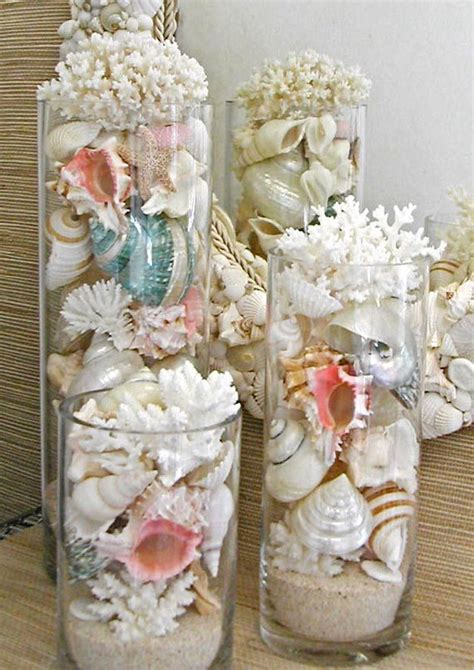 In A Bottle Seashells Sands Home Decor 163 best sea shells sand in vases images on