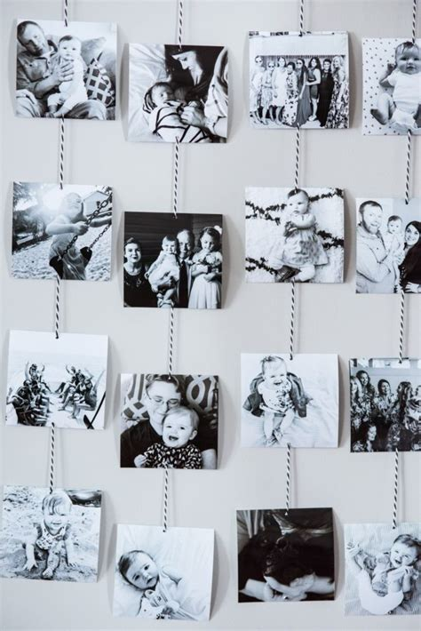 photograph hanging ideas diy family photo wall hanging the sweetest occasion