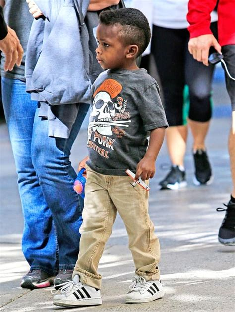 sandra bullock son sandra bullock s 3 year old son louis debuted a new mohawk