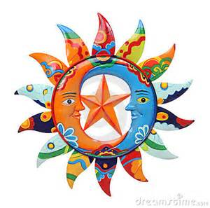 colorful sun colorful sun and moon stock photos image 18402763