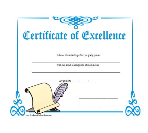 certificate of excellence templates 14 business gift certificate templates free sle