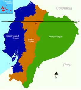 regions of map regional map of ecuador