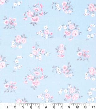made in america cotton fabric shabby chic spaced floral