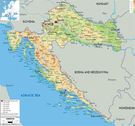 croatia map maps of croatia detailed map of croatia in english