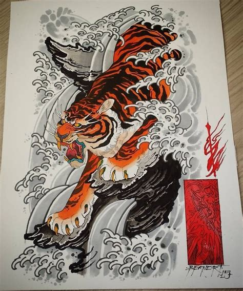 tiger dragon tattoo tiger design japanese tiger tat