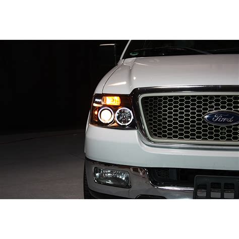 halo led lights for trucks 04 08 ford f150 dual angel eye halo projector headlights