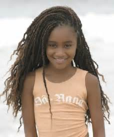 Black kids with short hair are very popular for hair of medium length