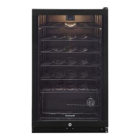 frigidaire 19 5 in 35 bottle wine cooler ffwc35f4lb the