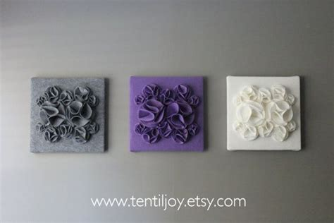 gray wall decor three wall art canvases purple gray and white nursery