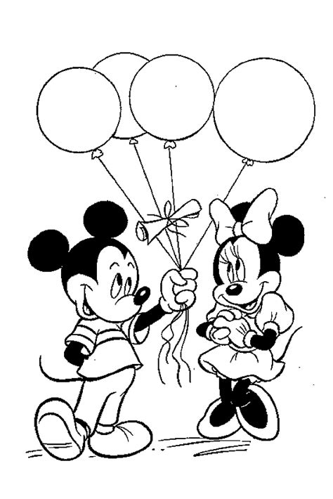 mickey mouse balloon coloring pages mickey and minnie mouse coloring pages for you to color in