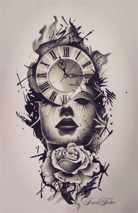 clock face tattoos designs 25 coolest ideas for pop
