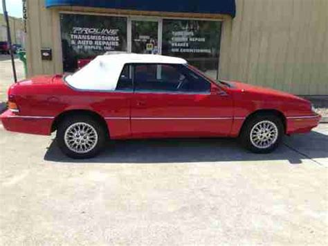 94 Chrysler Lebaron Convertible by Sell Used 1994 Chrysler Lebaron Convertible Gtc Lx 3 0l V6