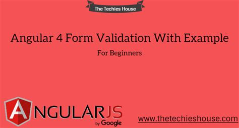 pattern validation in angular 4 explore angular 4 form validation with exle for beginners