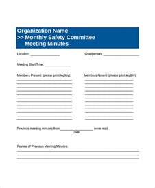 safety committee meeting template committee meeting agenda template 12 free word pdf