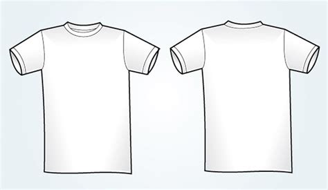 blank white vector t shirt template vectorish