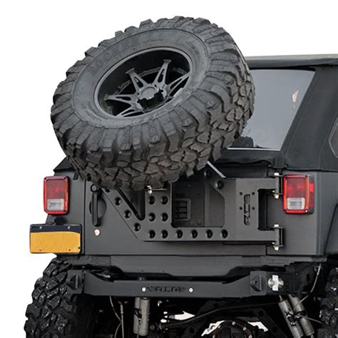 jeep spare tire carrier ace engineering 174 jeep wrangler 2007 2017 stand alone