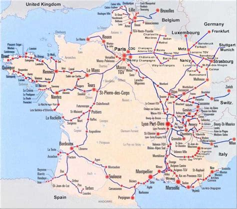 train routes france train map of entire tgv high speed train system