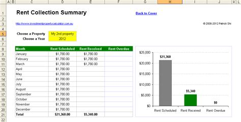 Investment Property Rent Collection Management Spreadsheet Rent Collection Spreadsheet Template