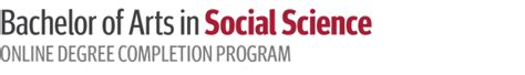 bachelor of arts in social science degree