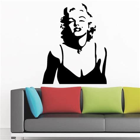 marilyn home decor 28 images modern wall stickers