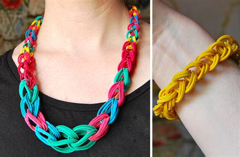 make rubber band jewelry rubber band necklace tutorial the beading gem s journal