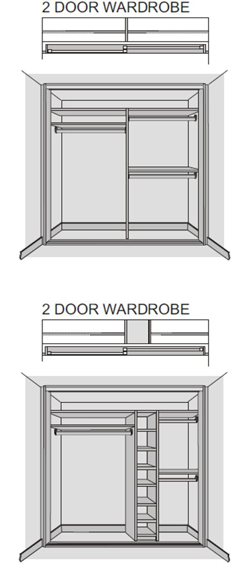 sliding door armoire plans tradtional mfc wardrobe interior technical specifications