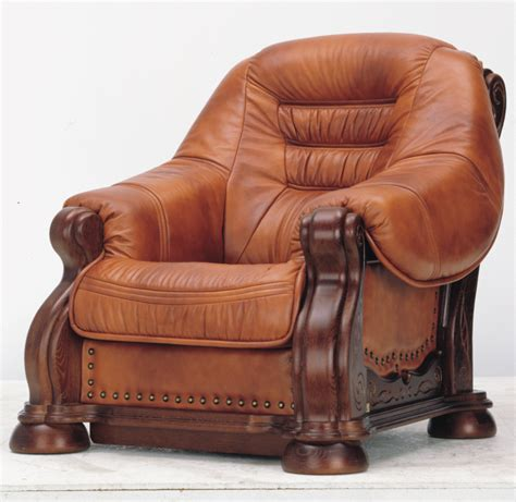 European Wood Bottom Carved Leather Sofas 3d Models