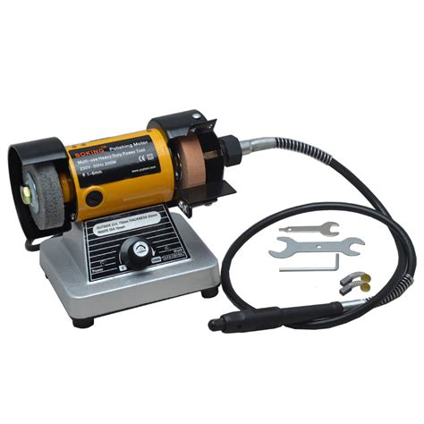 bench grinder with flex shaft stone polishing machine tile lines grooved edging buff abrasive plane hit polishing