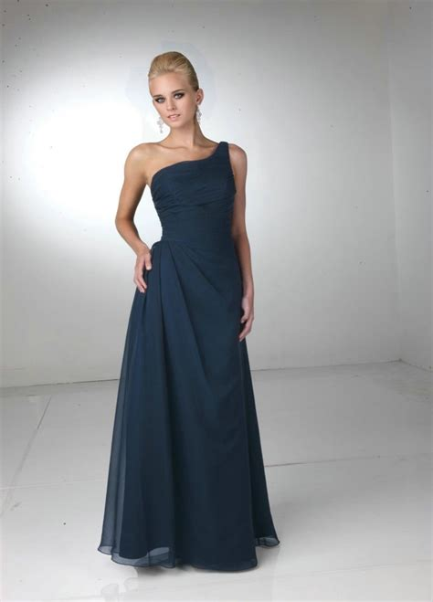 Navy Bridesmaid Dress by One Shoulder Navy Blue Bridesmaid Dresses To Inspire You
