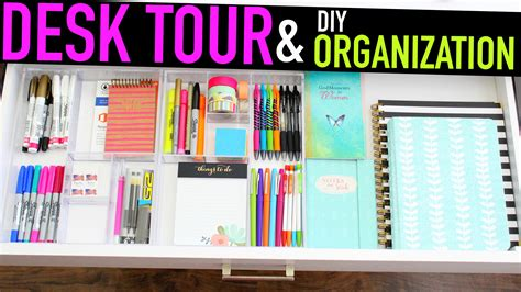 diy home organization desk tour diy organization