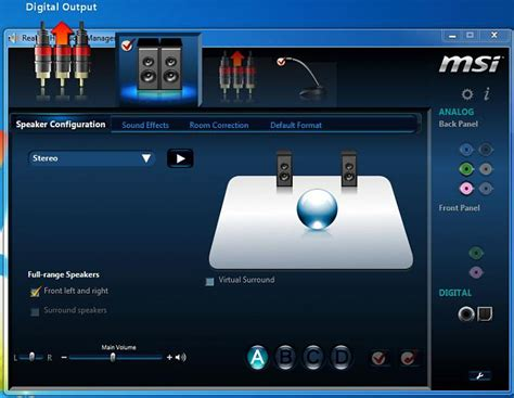 Hd Audio F Audio by Pics Of The New Realtek Hd Audio Manager Msi Windows 7
