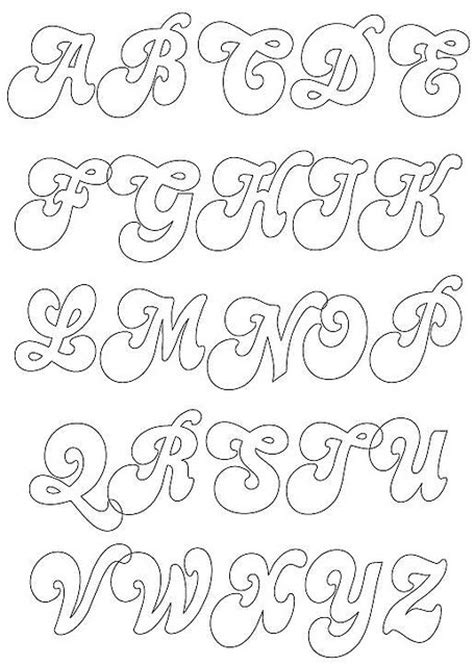 letras gruesas para carteles alfabeto para manualidades buscar con google letras