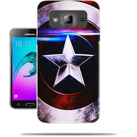 Casing Hp Samsung J3 2016 Captain America 1 Custom Hardcase Cover coque samsung galaxy j3 2016 bouclier avec 233 toile bleu originale