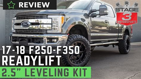 super duty readylift   front leveling kit review youtube