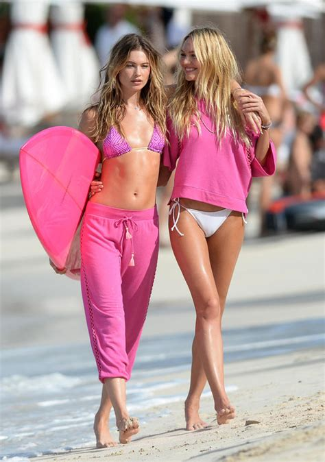 Candice Swanepoel And Behati Prinsloo Pose For Victorias | candice swanepoel and behati prinsloo pose for victoria s