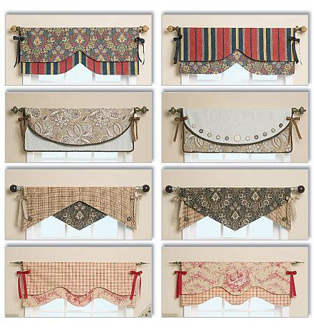 valance pattern ideas b5582 reversible window valance home decorating