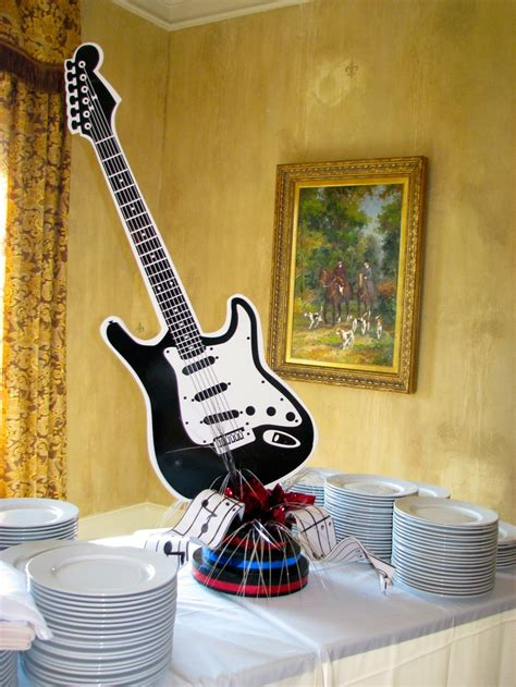rock n roll buffet centerpiece party ideas for reed