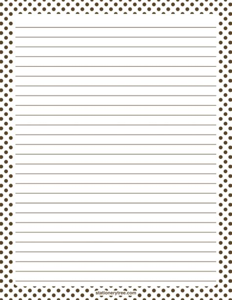 lined paper with money border printable brown and white polka dot stationery and writing