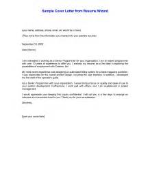Sample Job Cover Letter For Resume cover letters for resumes best templatesimple cover letter