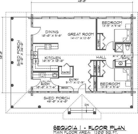 One Story Log Home Floor Plans by Log Cabin 1200 Sq Ft Unconventional Homes Pinterest