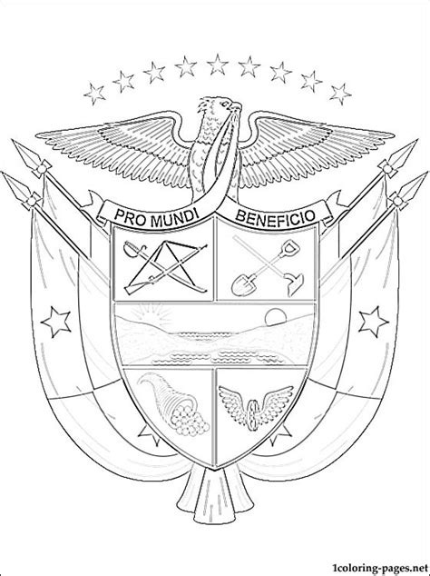 panama coat of arms coloring page coloring pages