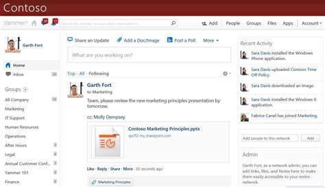 Sharepoint Online Office Blogs | starting yammer conversations from documents stored in