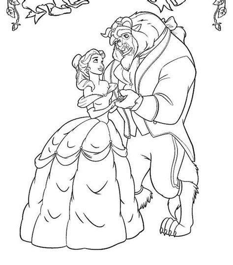 beauty and the beast dancing coloring pages belle and the beast dancing in the garden coloring page