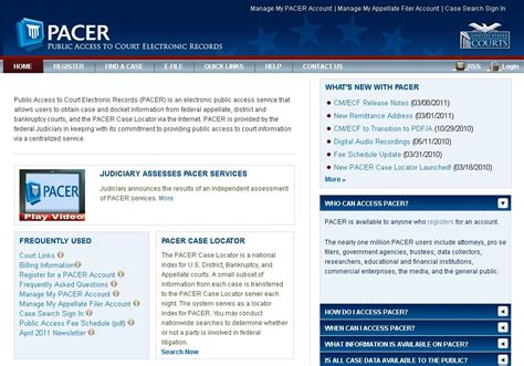 Pacer Gov Search Pacer Access And Education Program In Custodia Legis Librarians Of Congress