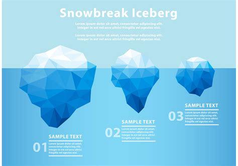 polygonal iceberg underwater   vectors