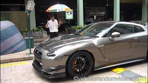modified nissan skyline r35 modified nissan gtr r35 startup driveby and accelerate