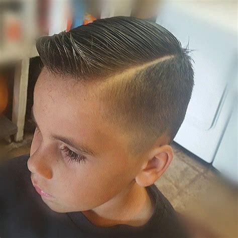 little boy hard part cut slick haircut with a quiff cuties with quiffs